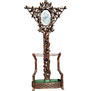 Victorian era Black Forest Umbrella Hall Tree Stand