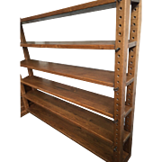 Vintage Solid Oak Cheese Press Display Shelve - Bookcase - Display