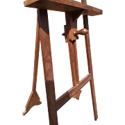 Jugendstil Oak Wood Floor Easel - Artist Display Stand