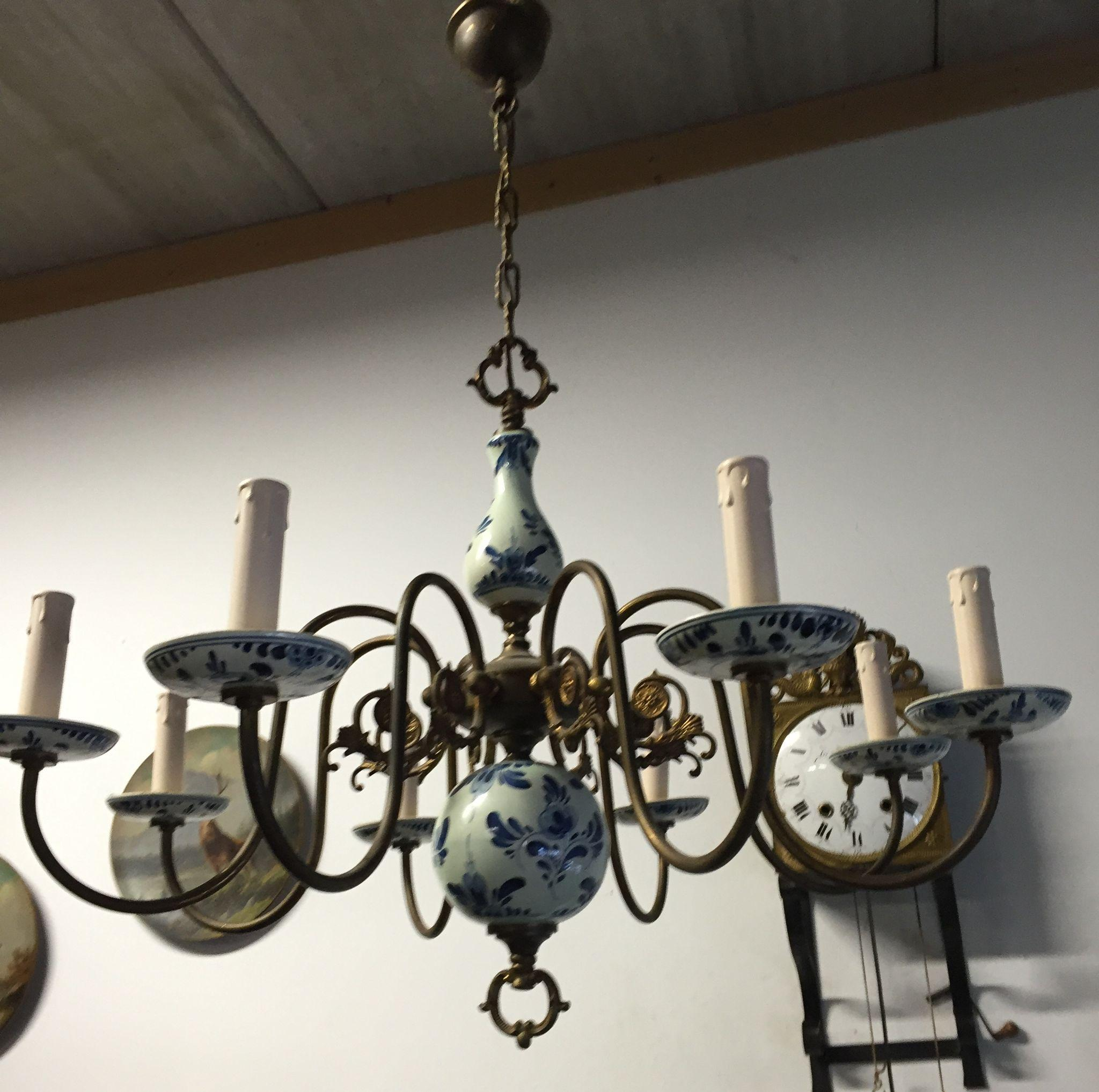 Blue and white chandelier beautiful color chandelier lighting ideas awesome reserved for jeanne i delft chandelier blue white pewter vintage with blue and white chandelier arubaitofo Images