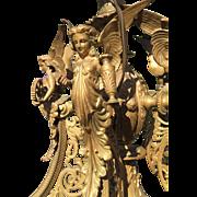 Victorian Bronze Figural Angels Chandelier