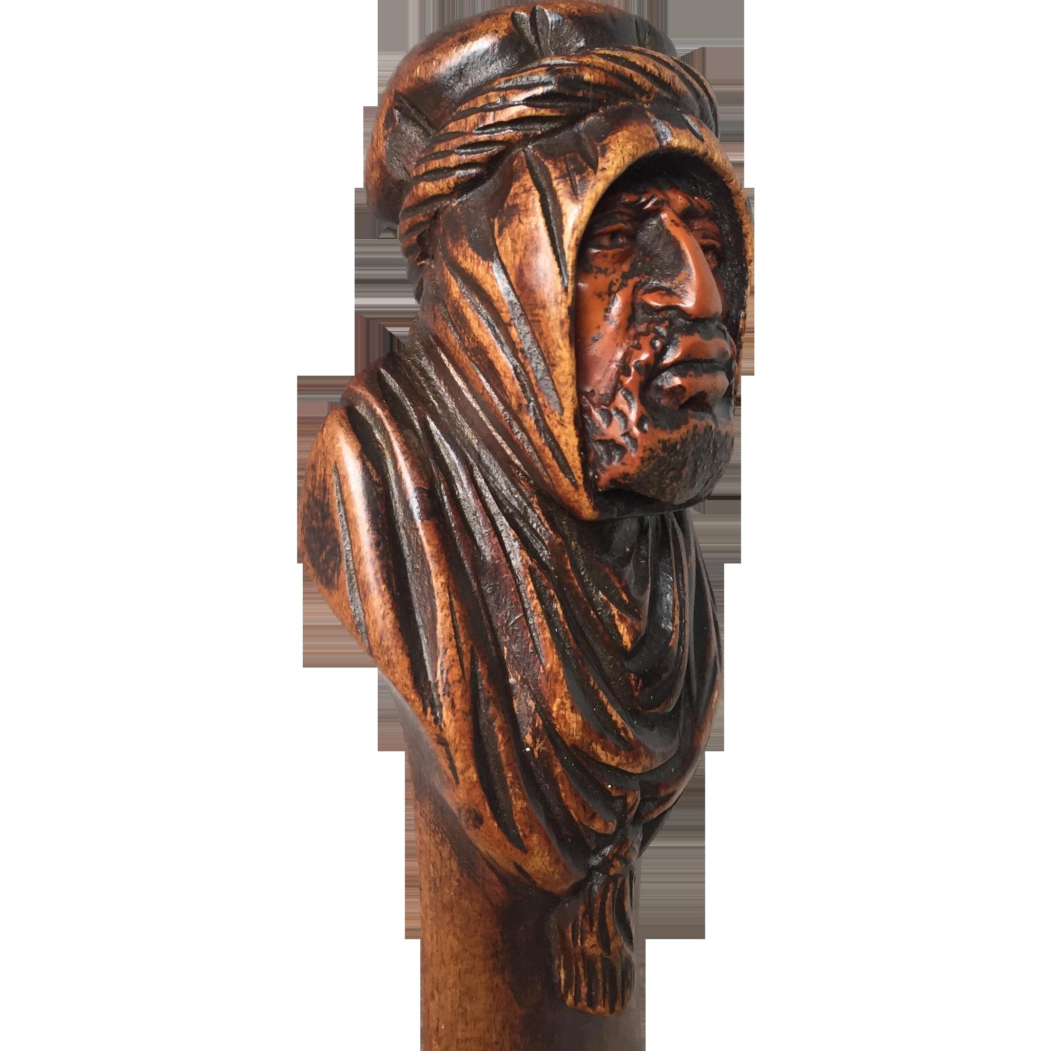 Antique Arab - Arabian Wooden Dagger - Letter Opener