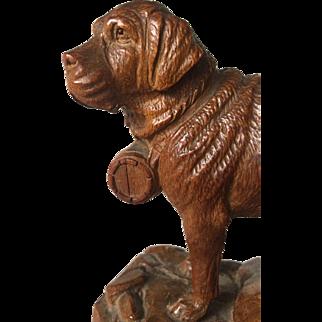 Swiss Black Forest Wooden Saint Bernard - Rescue Dog
