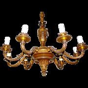 Beautiful Bronze - Wooden 9-light Chandelier