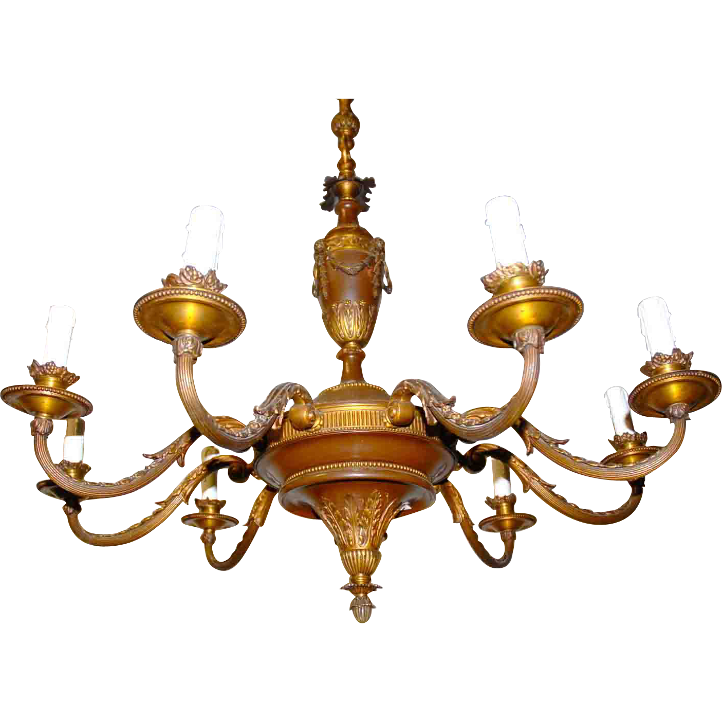 Beautiful Bronze - Wooden 9-light Chandelier