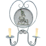 Vintage Knight - Castle Design Sconce