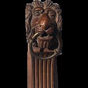 Pair Curtain PoleE Rod Holders Brackets Lion 19th Century