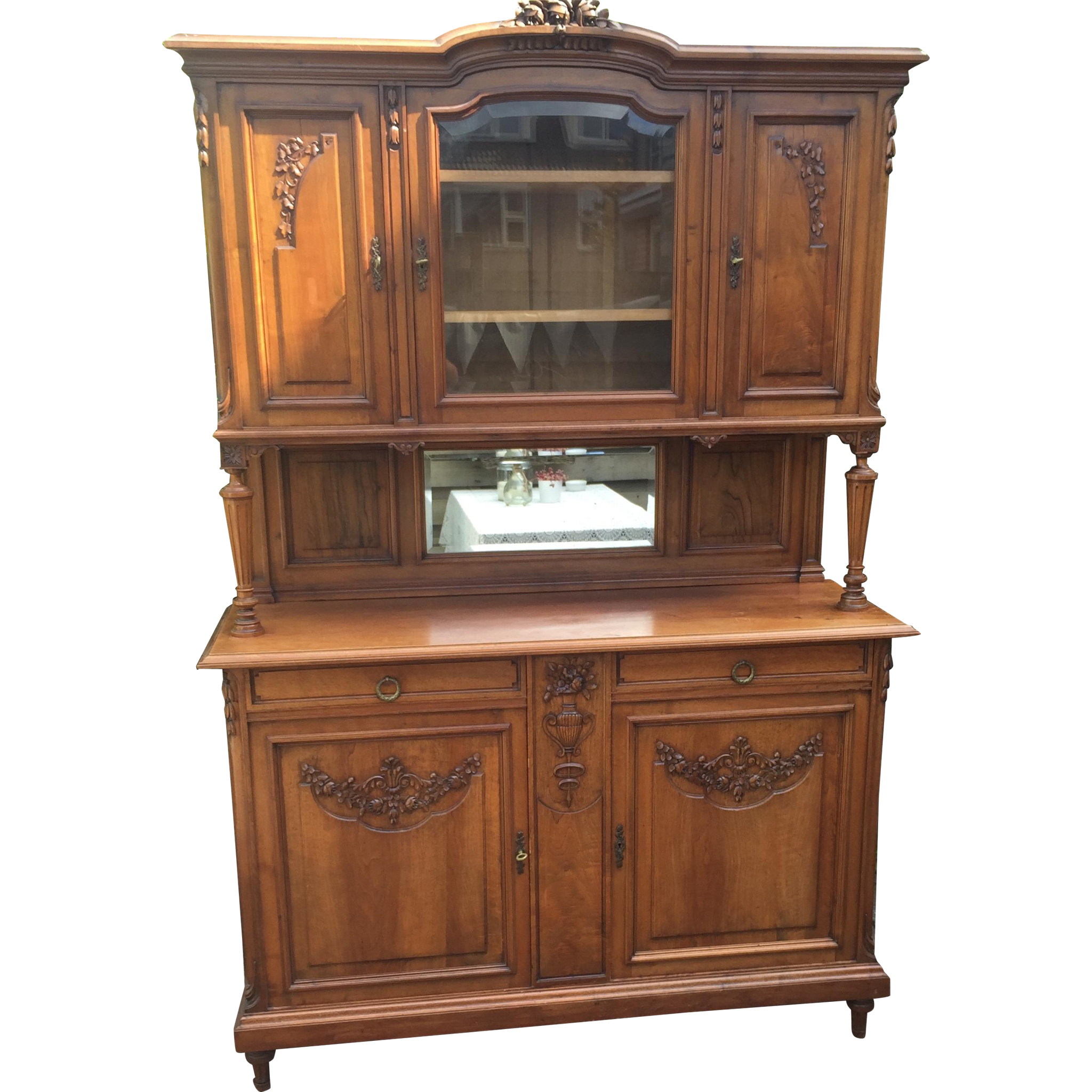 French Walnut Sideboard Cabinet Cupboard Furniture