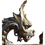 BRonze DRagon TAble MIrror LIege