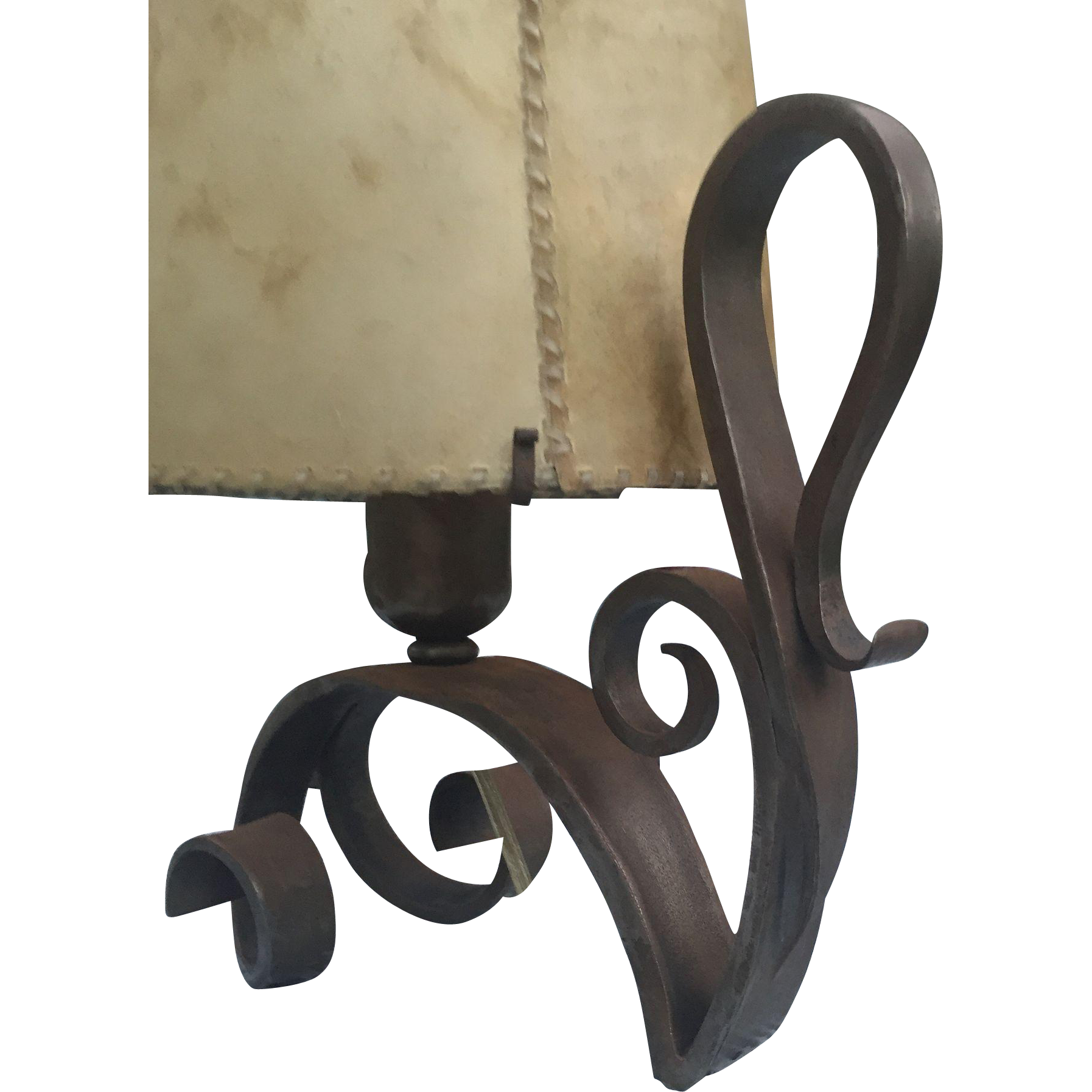 Vintage Wrought Iron Table Lamp