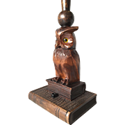Black Forest Owl Table Lamp