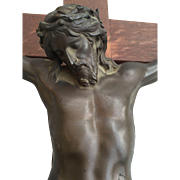 Large Crucifix Bronze F. Barbedienne