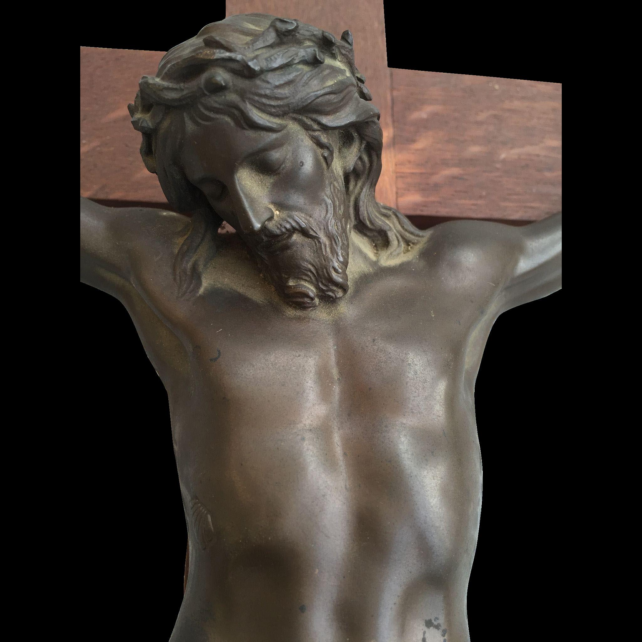 Large Crucifix Bronze F. Barbedienne