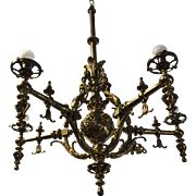 Heavy Quality Bronze Lion Chandelier