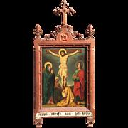 Twelfth Station - Jesus dies on the cross - oil painting