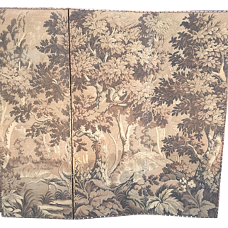 Late 19th Century 3 panel folded tapestry screen