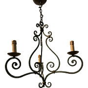Wrought Iron 3-light Pendant Light Ceiling Fixture