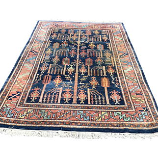 Good Size Hand-Knotted Oriental Carpet Rug 8.4 x 5.5