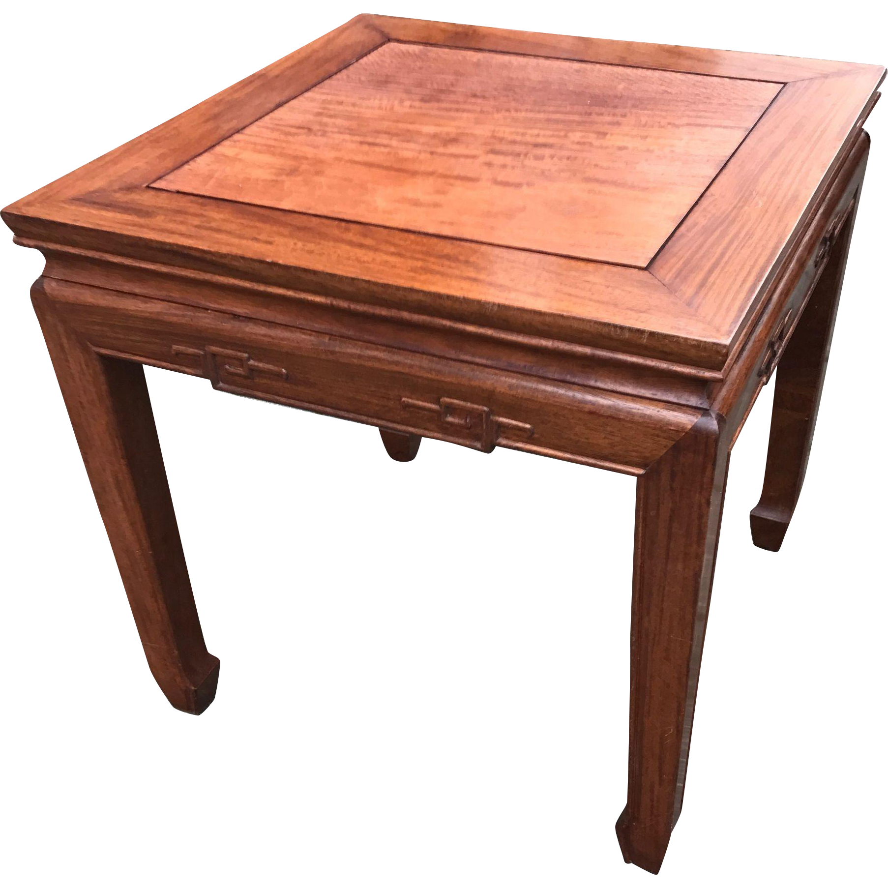 Vintage Chinese Design Carved Wood Table