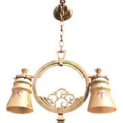 Art Deco Finest Quality Bronze Pendant Light