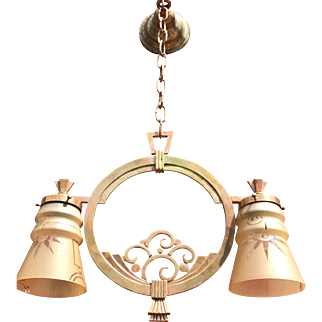 Art Deco Finest Quality Bronze Pendant Light