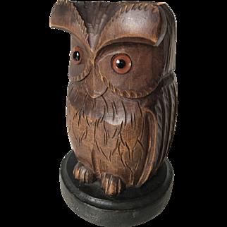 1930 Black Forest Desk Pen Holder in a Shape of a Owl