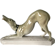 Schwarzburger Werkstätten Porcelain Dog by Hugo Meisel