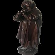19th Century Carved Cherry Wood Statuette Sculpture of Saint Teresa of Avila, Spain