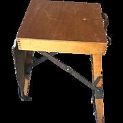 Unique Vintage Wooden Folding Stool for Street Painter / Artist