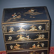 19th Century Chinoiserie Secretary - Bureau - Desk Cabinet