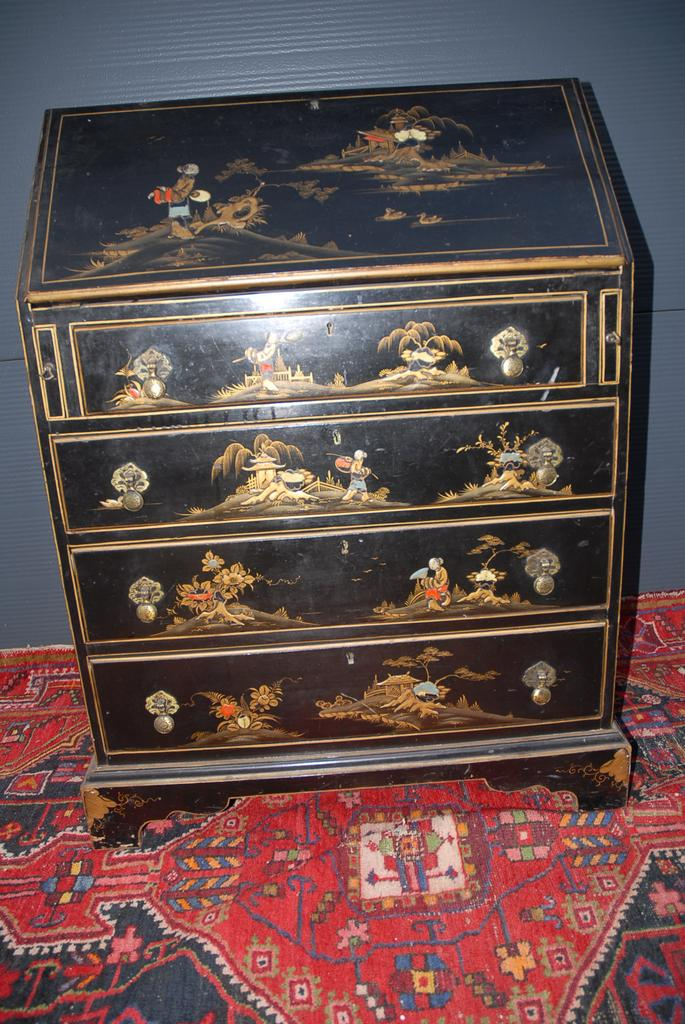 19th Century Chinoiserie Secretary Bureau Desk Cabinet Europe Antiques Collectibles And Decorations Ruby Lane