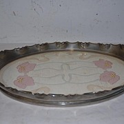 A  Beautiful Art Nouveau Porcelain Oval Tray
