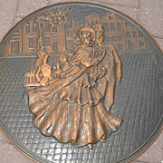An Copper Decorative Wall Relief / Plate
