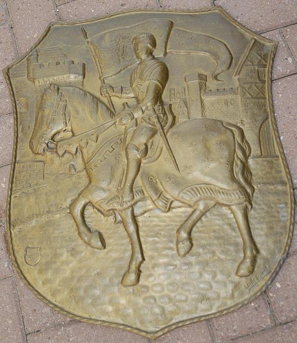 An Copper Decorative Wall Relief / Plate, knight decor