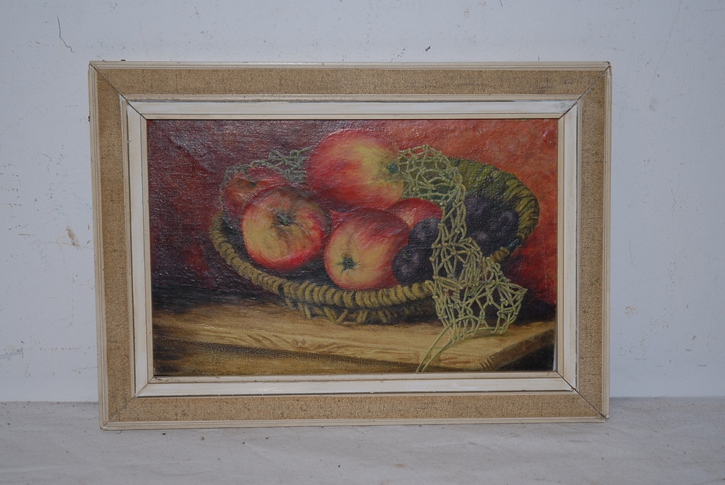 A Very Nice Oil Painting On Canvas, still life of fruit