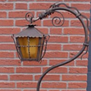 A Gorgeous Art Nouveau Wrought Iron Dragon Look Floor Lamp with Lantern