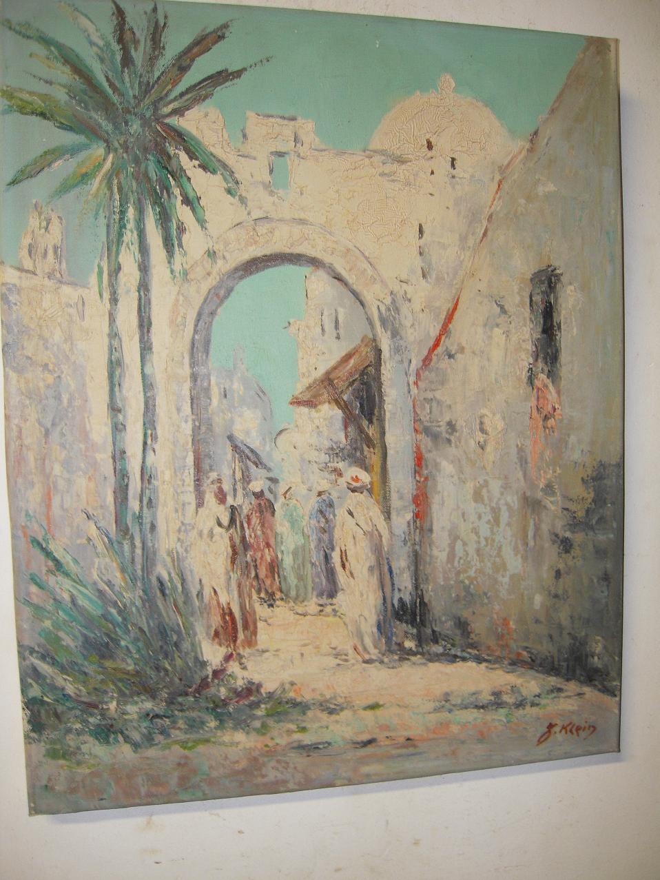 Nice Oil Painting, Arabic Village Scene