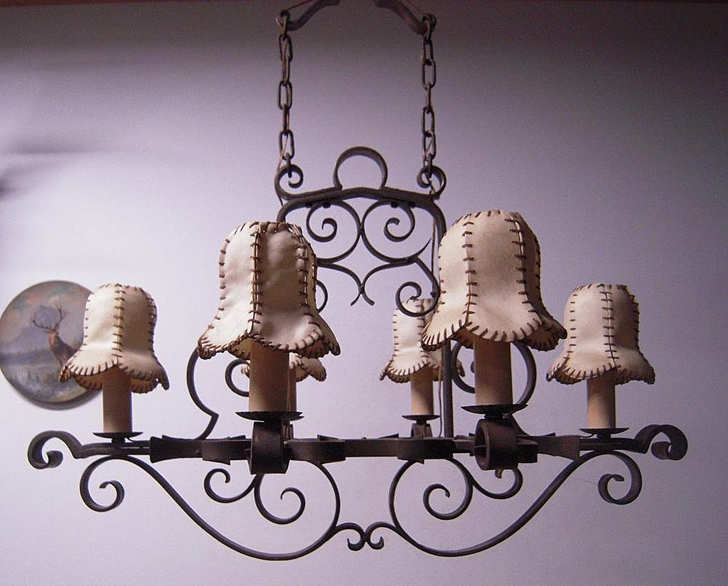 A Gorgeous Museum Quality Wrought Iron 6-light Chandelier