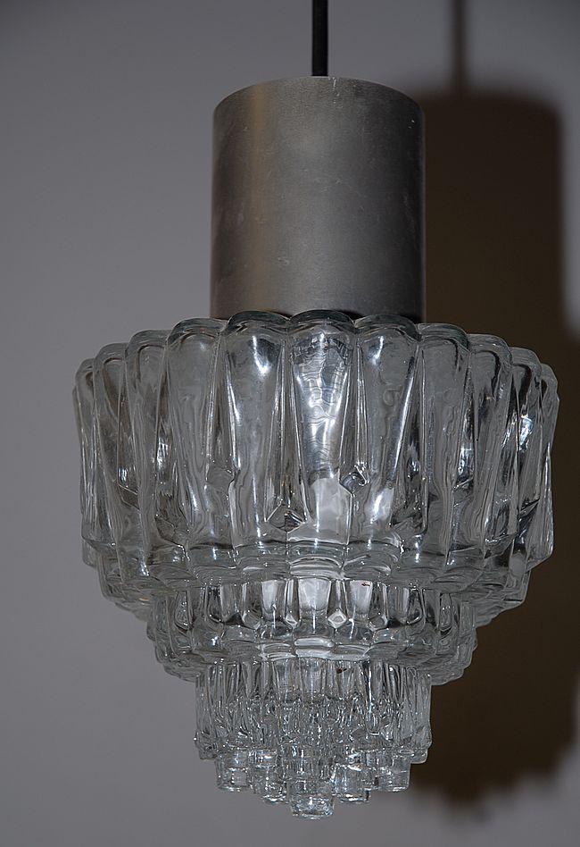 Vintage Glass Ceiling Light Fixture