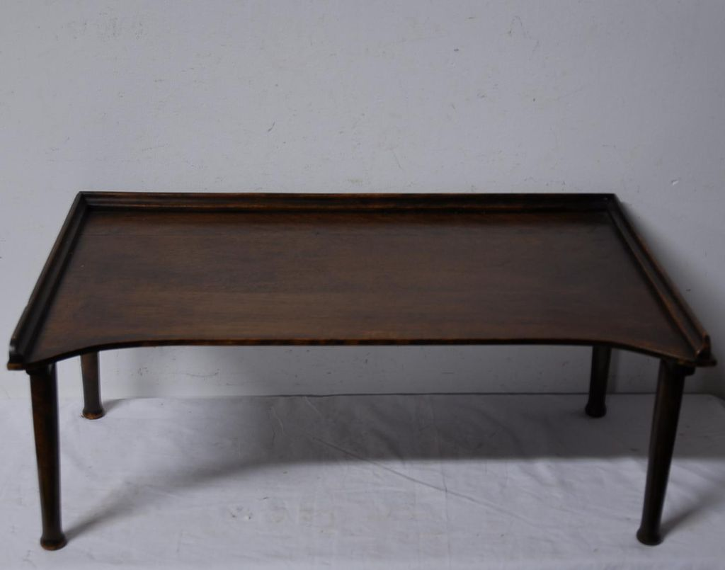 Antique English Portable Folding Butler Tray / Stand