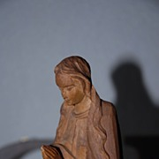 Wonderful Baroque Style Carved Wooden Madonna Statue