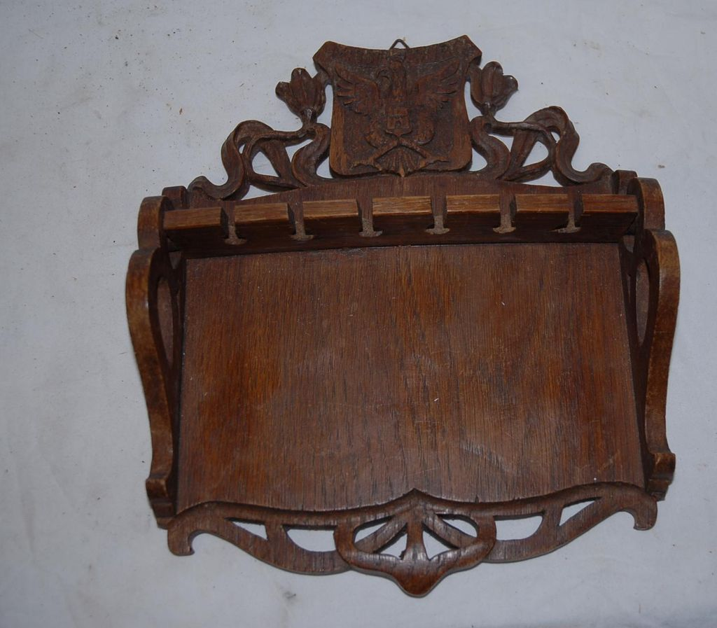 Art Nouveau Carved in Wood(oak)Spoon Wall Display Rack
