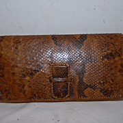 Vintage Boa Constrictor Leather Purse / Handbag
