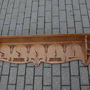 A Large Antique Carved Wood Coat-Rack