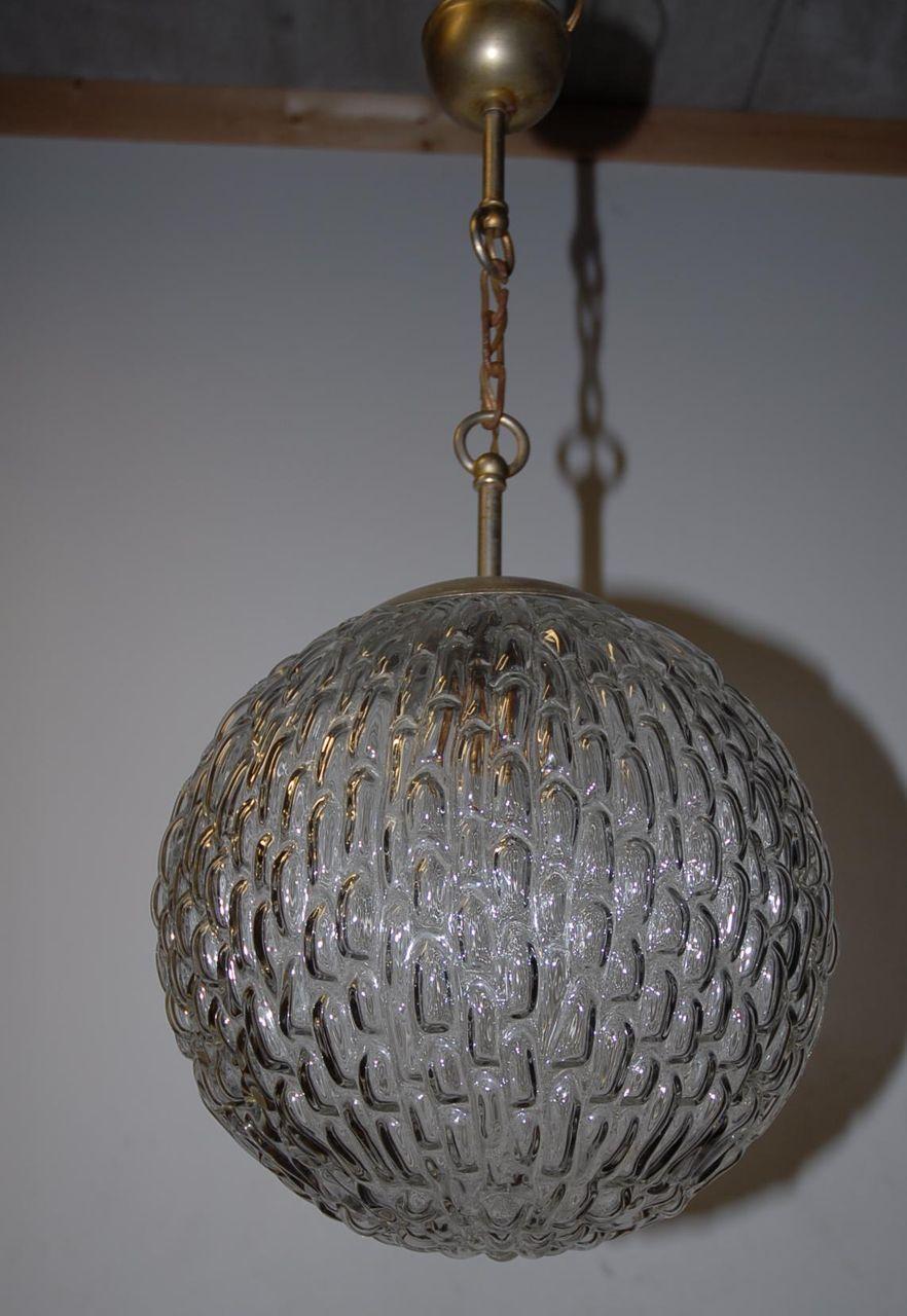 Huge 1-light Glass Globe Fixture / Chandelier