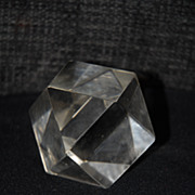 Lovely Vintage Hand Shaped Prism Crystal Paperweight