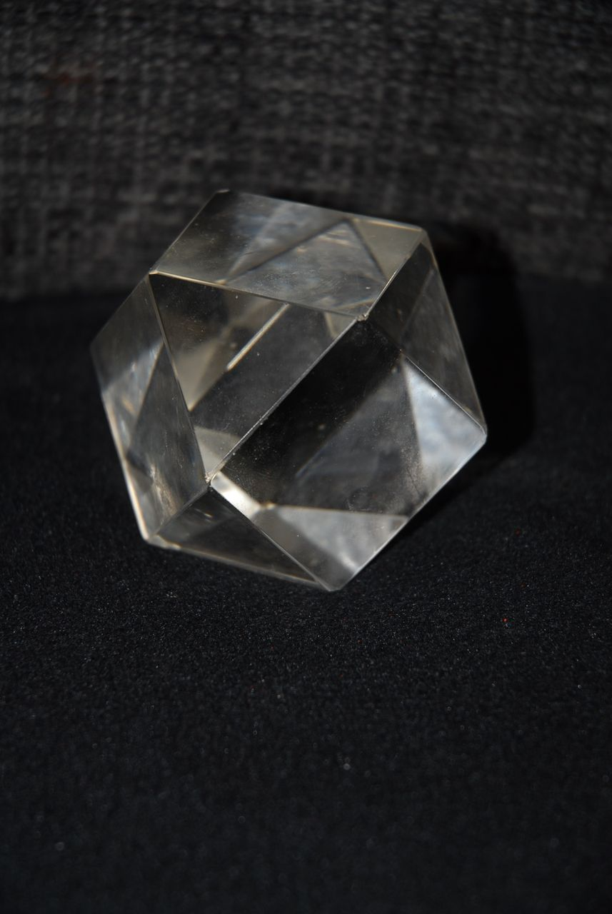 Sold to Suzanne -- Lovely Vintage Hand Shaped Prism Crystal Paperweight