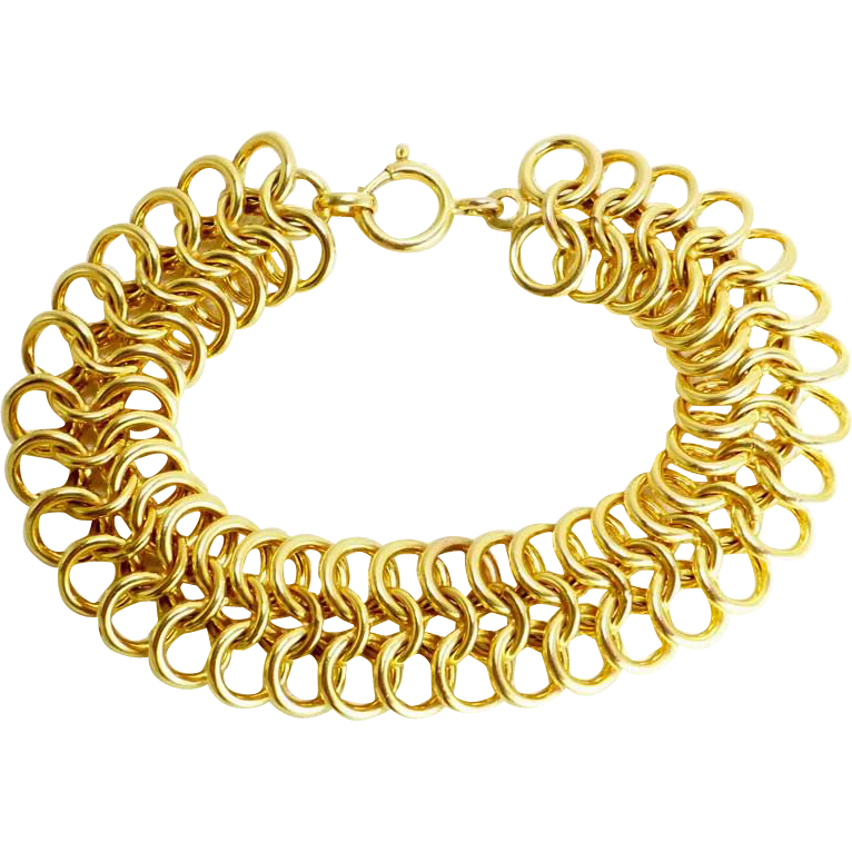 14K Heavy Yellow Gold ~ 34 Grams Chain Bracelet