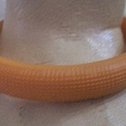 CHIC Vintage BAKELITE Bangle Carved Pumpkin Bakelite