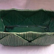 Vintage MC COY Planter Gorgeous Green Glaze and Design Mint Condition!